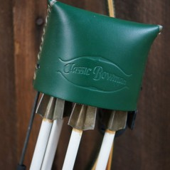 Old School Leather Green Quiver